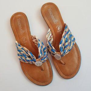 Toscanella Basket Weave Sandals Sz.9